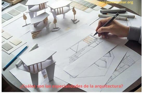 ¿Cuáles son las especialidades de la arquitectura?