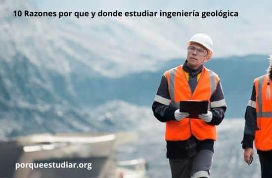 donde estudiar ingeniería geológica