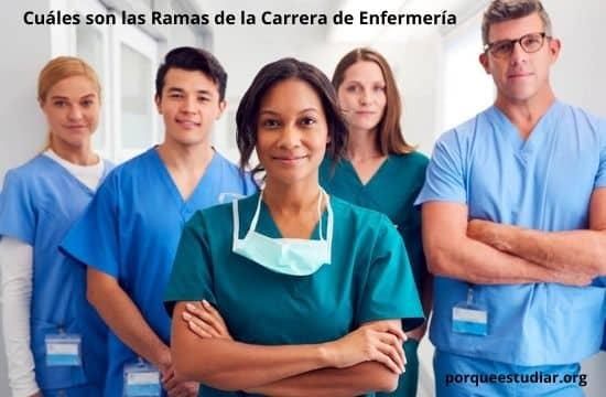 Cuáles son las Ramas de la Carrera de Enfermería