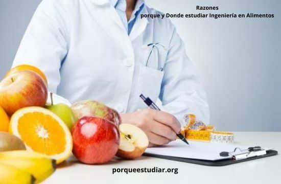 Donde estudiar Ingeniería en Alimentos